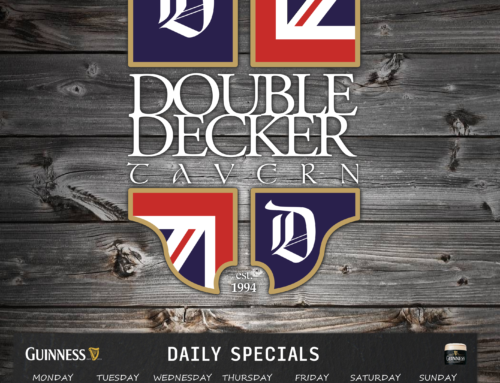 Double Decker Tavern – New Menu Design And Format